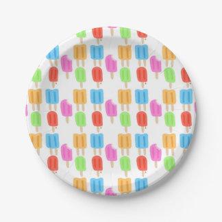 Het kleurrijke Patroon van de Ijslolly Papieren Bordje