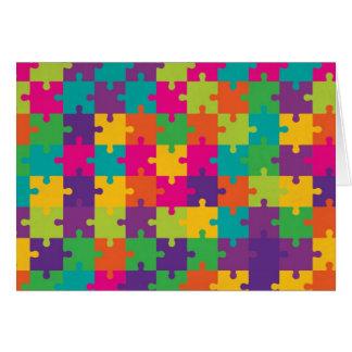 Het kleurrijke Patroon van de Puzzel Wenskaart