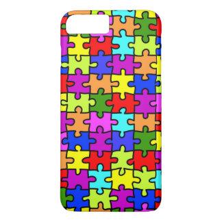 Het kleurrijke patroon van de regenboogpuzzel iPhone 8/7 plus hoesje