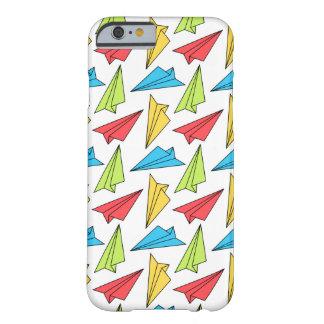 Het kleurrijke Patroon van de Vliegtuigen van het Barely There iPhone 6 Hoesje