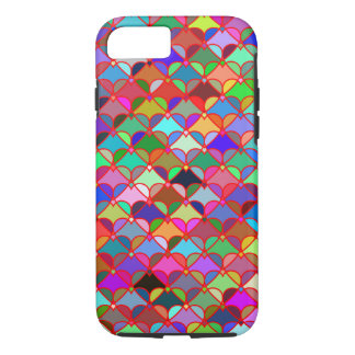 Het kleurrijke Patroon van Harten iPhone 8/7 Hoesje