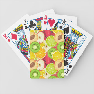 Het kleurrijke Patroon van het Fruit van de Pret Bicycle Speelkaarten