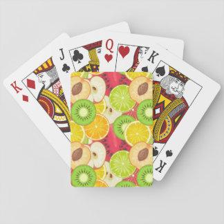 Het kleurrijke Patroon van het Fruit van de Pret Speelkaarten