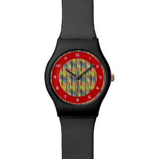 Het kleurrijke Patroon van Strepen Horloge