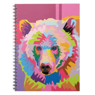 Het kleurrijke Pop-art draagt het Notitieboekje Ringband Notitieboek
