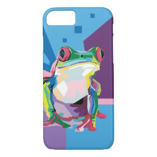 Het kleurrijke Portret van de Kikker van de Boom iPhone 8/7 Hoesje
