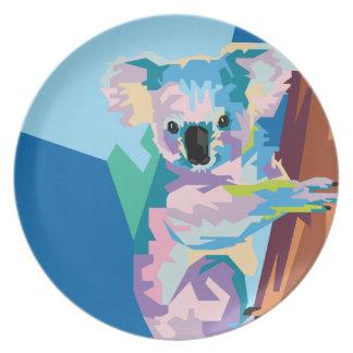 Het kleurrijke Portret van de Koala van het Bord