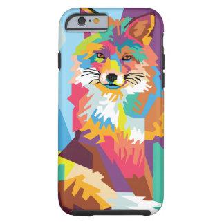 Het kleurrijke Portret van de Vos van het Pop-art Tough iPhone 6 Hoesje
