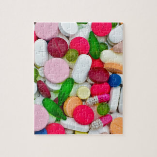 Het kleurrijke product van de pillendouane legpuzzel