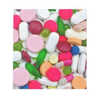 Het kleurrijke product van de pillendouane notitieblok