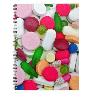 Het kleurrijke product van de pillendouane notitieboek