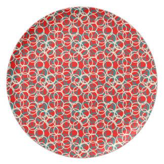 Het kleurrijke Rode Witte en Blauwe Bord van het
