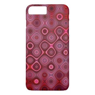 Het kleurrijke Rond gemaakte patroon van Strepen iPhone 8/7 Plus Hoesje