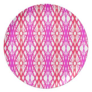 Het kleurrijke Roze aan Paarse Patroon van de Party Bord