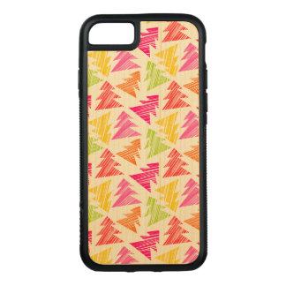 Het kleurrijke Schetsmatige Patroon van Kerstbomen Carved iPhone 8/7 Hoesje