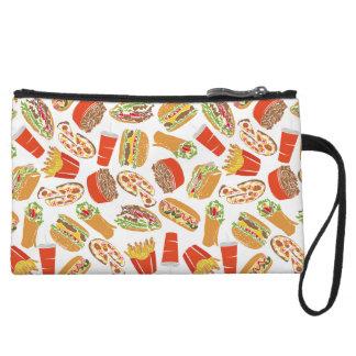 Het kleurrijke Snelle Voedsel van de Illustratie Handtasje