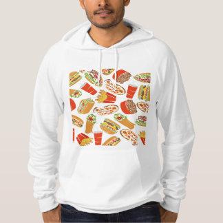 Het kleurrijke Snelle Voedsel van de Illustratie Hoodie