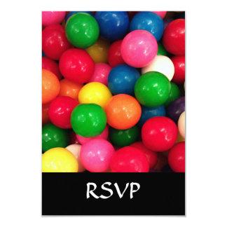 Het kleurrijke Snoep van de Bal van de Gom 8,9x12,7 Uitnodiging Kaart