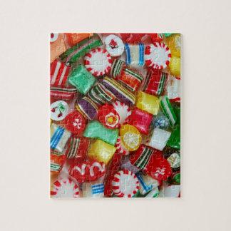 Het kleurrijke Snoep van Kerstmis Puzzel