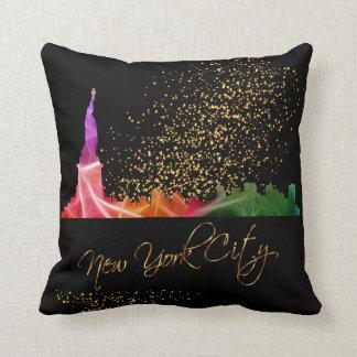 Het kleurrijke Statuut van de Stad van New York Sierkussen