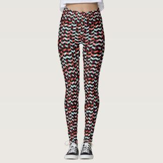 Het kleurrijke Stedelijke Patroon van de Zigzag Leggings