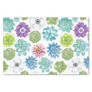 Het kleurrijke Succulents en Papieren zakdoekje Tissuepapier