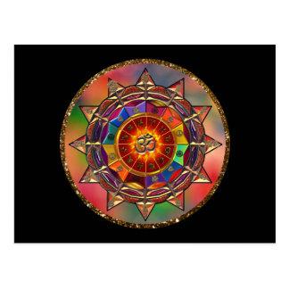 Het kleurrijke Symbolische Briefkaart van Mandala