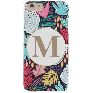 Het kleurrijke Tropische Patroon & het Monogram Barely There iPhone 6 Plus Hoesje