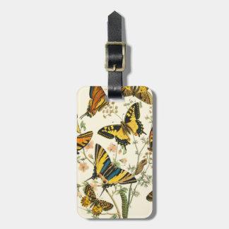 Het kleurrijke Verzamelen zich van Vlinders en Kofferlabels