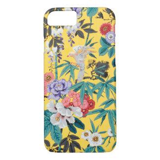 Het kleurrijke Vintage Japanse BloemenPatroon van iPhone 7 Hoesje