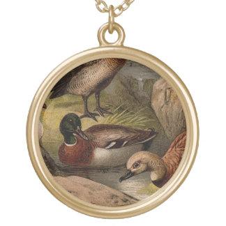 Het kleurrijke vintage schilderen van eenden goud vergulden ketting