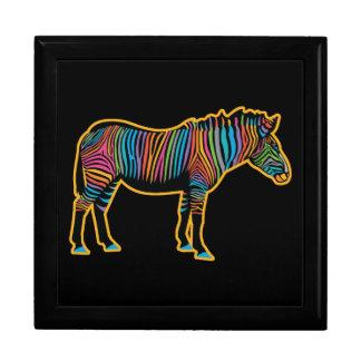 Het kleurrijke Zebra van de Regenboog Decoratiedoosje