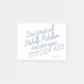 Het kleverige Visitekaartje van het Gekrabbel Post-it® Notes