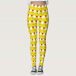 Het knipogen Beenkappen Emoji Leggings