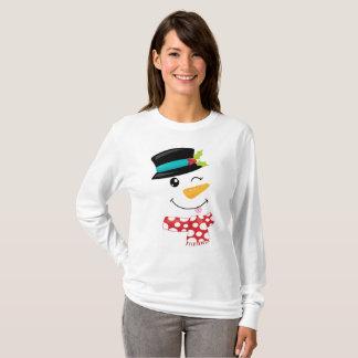 Het knipogen de T-shirt van de Sneeuwman