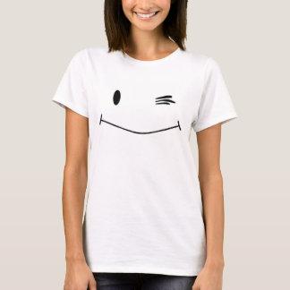 Het knipogen Gezicht Smiley T Shirt