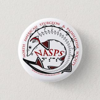 Het knoop-Wit van het Logo NASPS Ronde Button 3,2 Cm