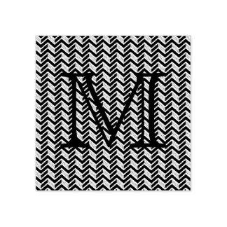 Het koele Blauwe Monogram van het Patroon van de Rubberenstempel