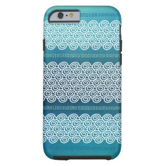 Het koele Blauwe Patroon van het Zee van de Zomer Tough iPhone 6 Hoesje