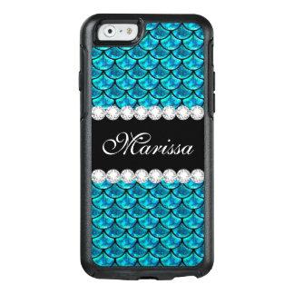 Het koele Blauwgroen Blauw schittert Schalen van OtterBox iPhone 6/6s Hoesje