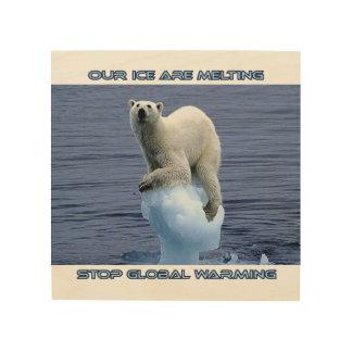 het koele design van de Kunst van de ijsbeer Hout Afdruk