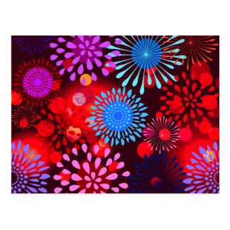Het koele Gewaagde Kleurrijke Ontwerp van Girly Briefkaart