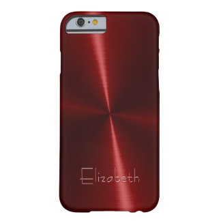 Het koele Glanzende Radiale Metaal van het Staal Barely There iPhone 6 Hoesje