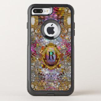 Het Koele kaléidoscope Beschermende Monogram Sev OtterBox Commuter iPhone 7 Plus Hoesje