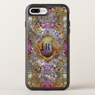 Het Koele kaléidoscope Beschermende Monogram van OtterBox Symmetry iPhone 8 Plus / 7 Plus Hoesje