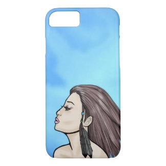 Het koele Meisje van de Wind van de Zomer iPhone 7 Hoesje