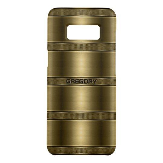 Het koele Metaal Gouden Patroon van Strepen Case-Mate Samsung Galaxy S8 Hoesje