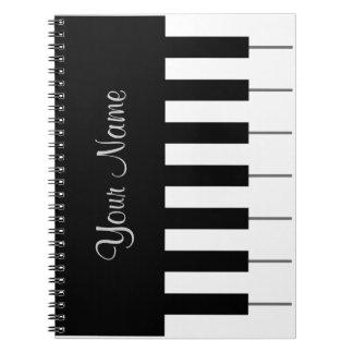 Het koele Notitieboekje van de Piano Ringband Notitie Boeken