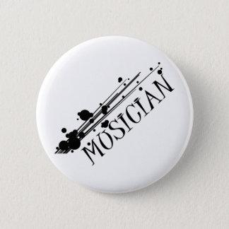 Het koele ontwerp van de musicus!! ronde button 5,7 cm