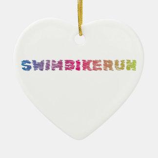Het koele ontwerp van Triathlon Keramisch Hart Ornament